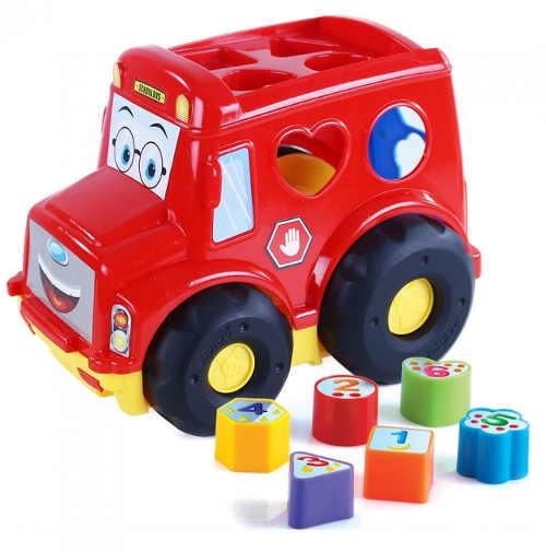 Červené dětské auto s vkládačkou