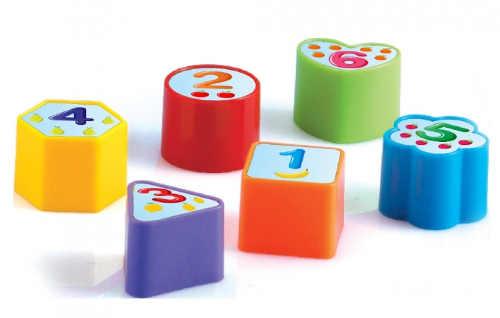 Dětská vkládačka s čísly a puntíky