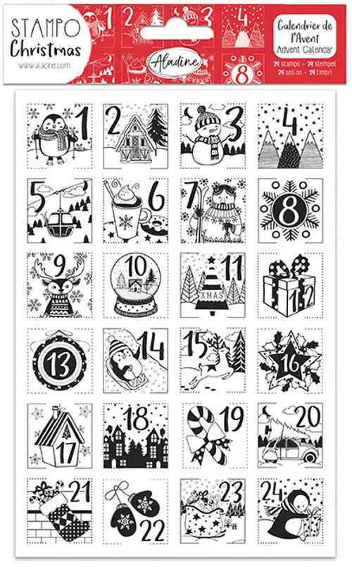 Dětský adventní kalendář s vánočními razítky