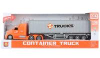 Dětský kamion s kontejnerem na baterie