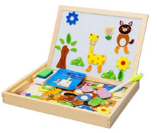 Magnetické puzzle na tabuli