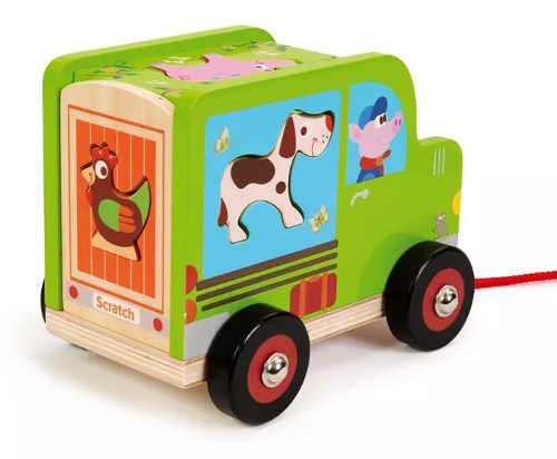Dřevěné autíčko pro děti od dvou let