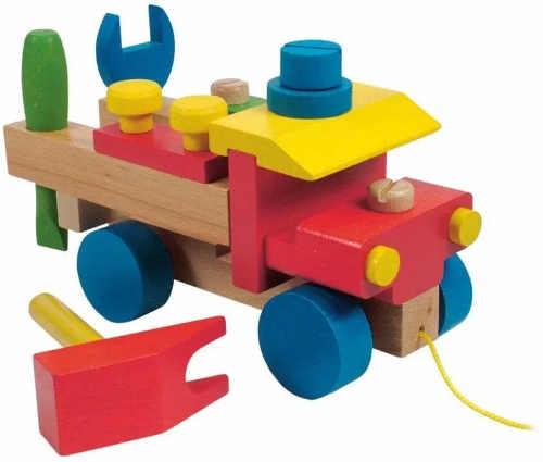 Dřevěné rozkládací auto pro rozvoj motoriky
