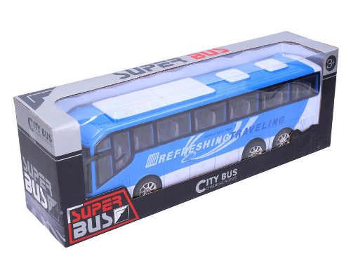 Hračka modrý autobus na setrvačník