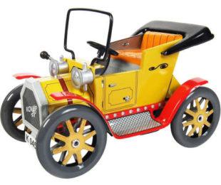 Kovové dětské autíčko veterán na klíček