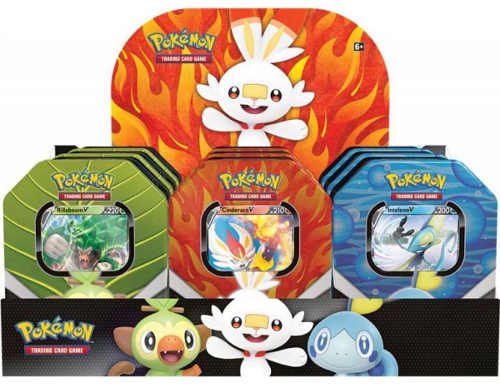 Kovové krabičky s Pokémon kartičkami