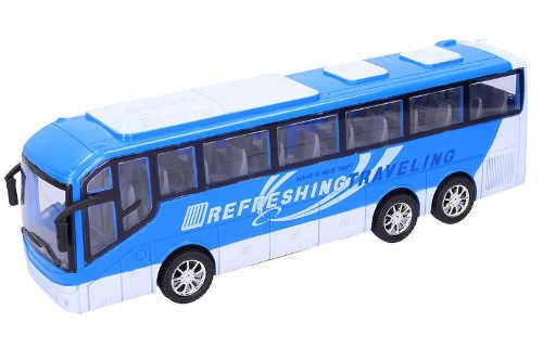 Modro bílý dětský autobus na setrvačník