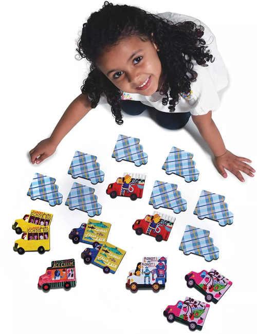 Pexeso s autíčky pro nejmenší