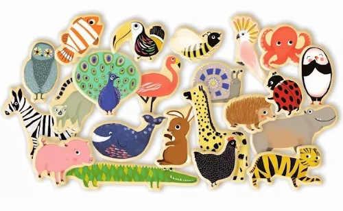 Veselé magnetky pro děti zvířátka