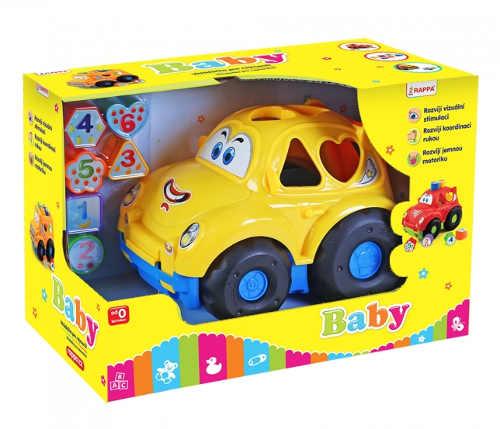 Žluté osobní autíčko vkládačka pro děti