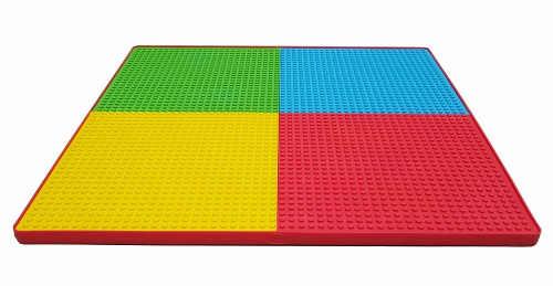 Barevný dětský stůl pro stavění Lega