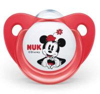 Červené šidítko NUK Disney Mickey Minnie 6-18m