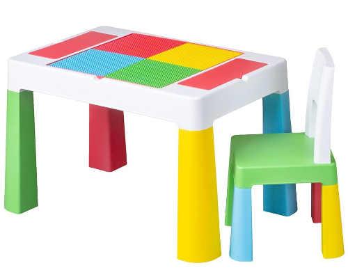 Dětská sada barevného stolečku a židličky Tega Multifun