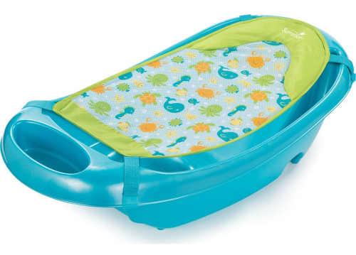 Dětská vanička Sparkle and Splash s podložkou pro koupání miminek
