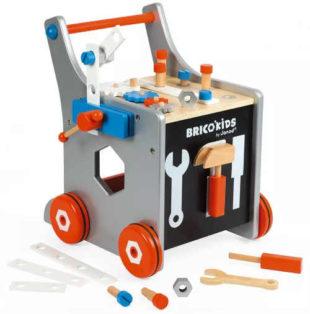 Dětské chodítko magnetický dřevěný vozík s nářadím