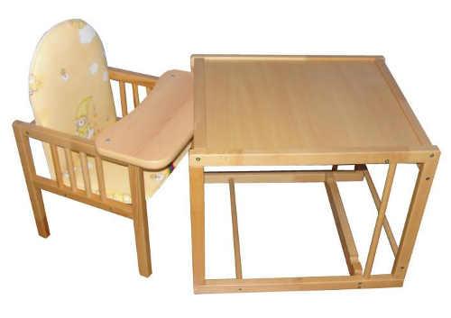 Dětský stolek a židlička z bukového dřeva