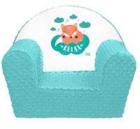 Modré dětské křesílko New Baby Liška