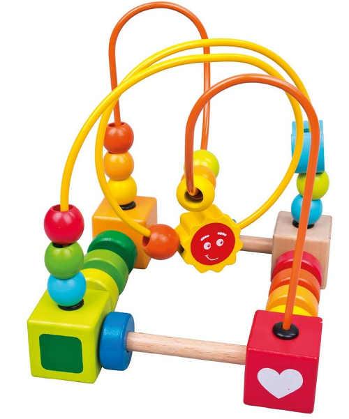Pestrobarevná dřevěná hračka pro nejmenší