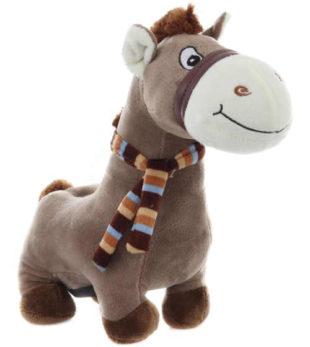 Plyšová dětská pokladnička kůň se zvukem