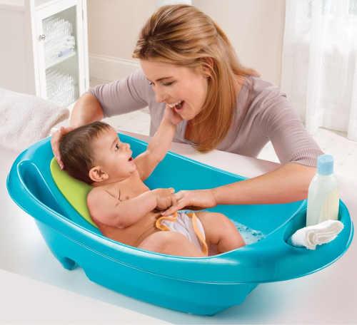 Pohodlná vanička pro koupání kojenců