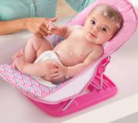 Růžová polohovací koupací sedačka Summer Infant