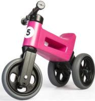 Růžové odrážedlo 2 v 1 Funny Wheels