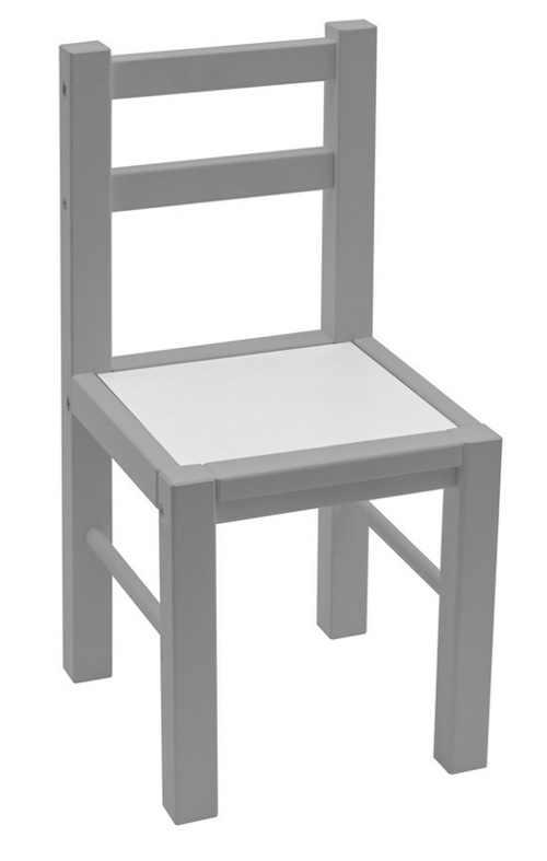 Šedá dřevěná dětská židlička
