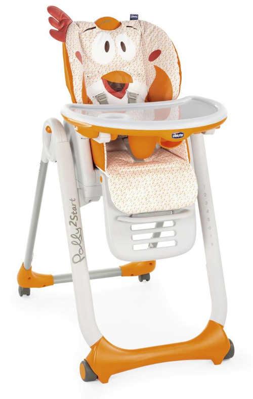 Veselá dětská jídelní židlička Fancy Chicken