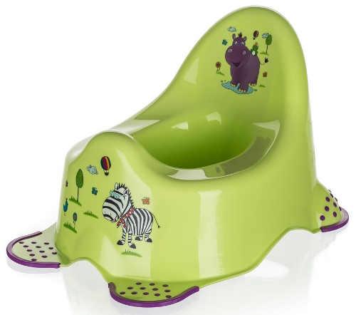 Veselý zelený dětský nočník se zvířátky