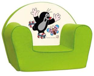 Zelené dětské křesílko Bino Krteček