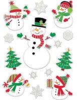Vánoční samolepky na okno dětského pokoje - sněhuláci