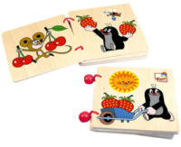 Dětská dřevěná knížka Krteček