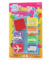 Dětská razítka s dopravními prostředky