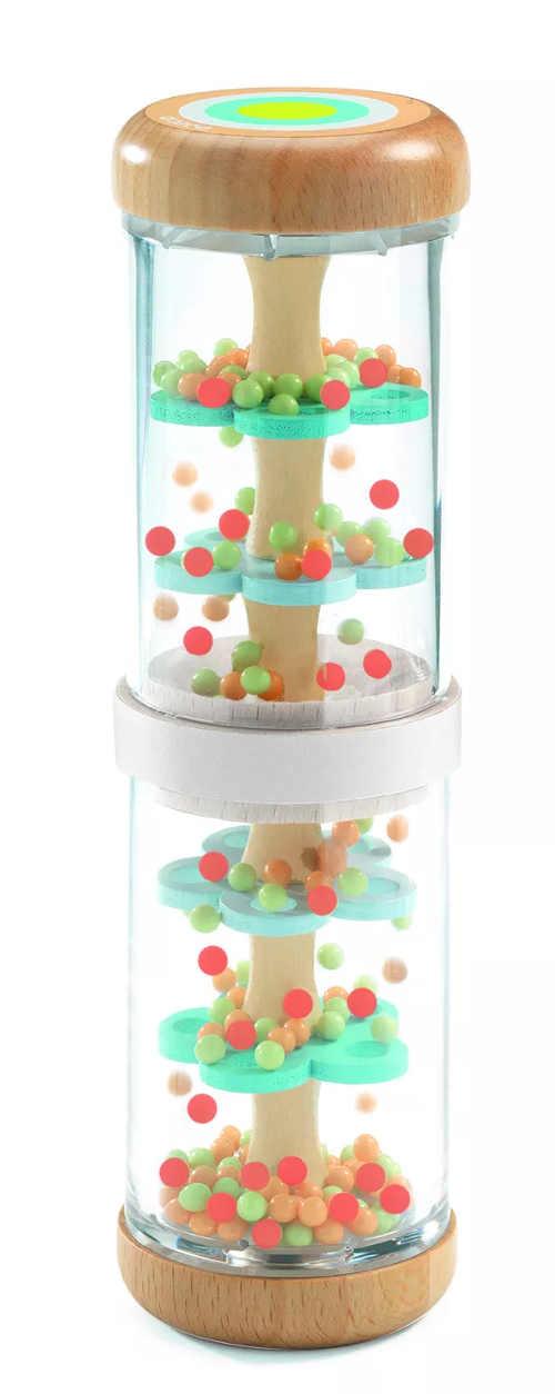 Dětské chrastítko s padajícími perličkami