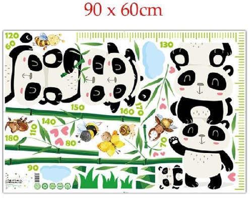 Dětské nálepky na stěnu Panda s bambusem
