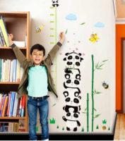 Dětský nalepovací metr na stěnu Panda