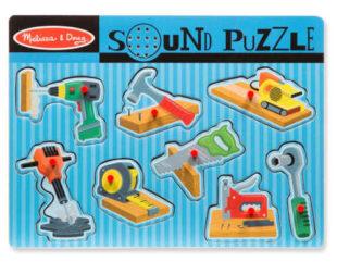 Dřevěná puzzle vkládačka nářadí se zvuky