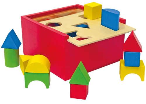 Dřevěná vkládací krabička Woody Tvary