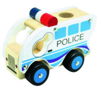 Dřevěné policejní autíčko pro nejmenší