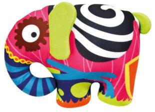 Hračka pestrobarevný sloník Bino pro miminka