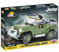 Stavebnice Cobi model vojenský Jeep Wrangler 1:18