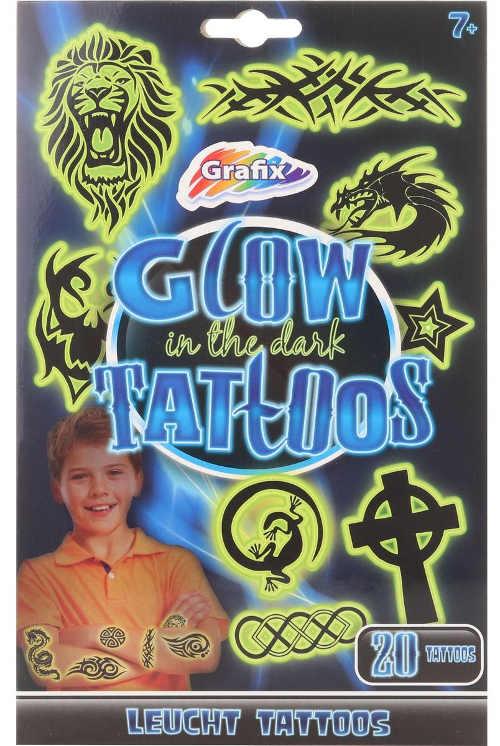 Svítící dětské neonové tetování