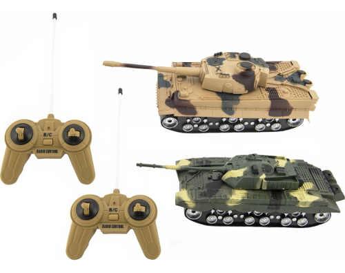 Tanková bitva - 2ks RC tanků 25 cm na baterie se zvukem se světlem