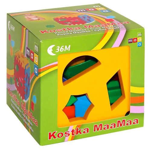 Vkládací kostka naučí děti poznávat tvary