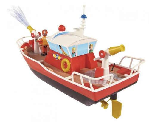 Záchranný člun hasič Sam s funkčním vodním dělem