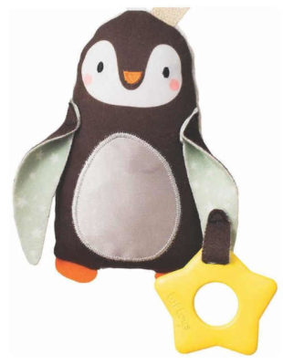 Závěsný tučňák na postýlku nebo kočárek