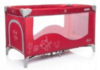 Holčičí červená cestovní postýlka 4 BABY Royal