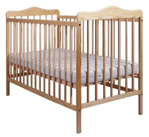 Levná dřevěná dětská postýlka New Baby Jacob