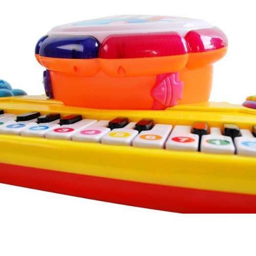 buben, klavír a paličky